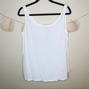 🔥 Eileen Fisher white tank silk top s small